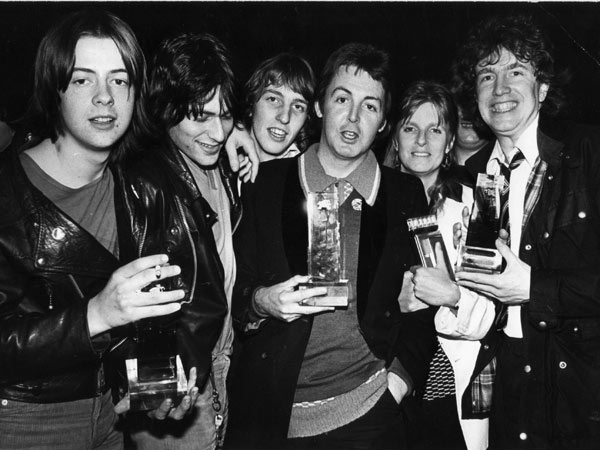 Tom Robinson Band with Paul & Linda McCartney at Capital Radio Awards 1978