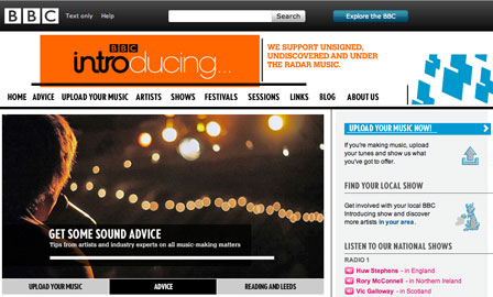 BBC Introducing Website