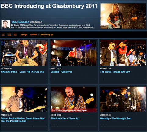 Click here for Tom Robinson's favourite performances from the BBC Introducing stage at Glastonbury 2011