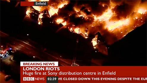 Fire at Sony DADC