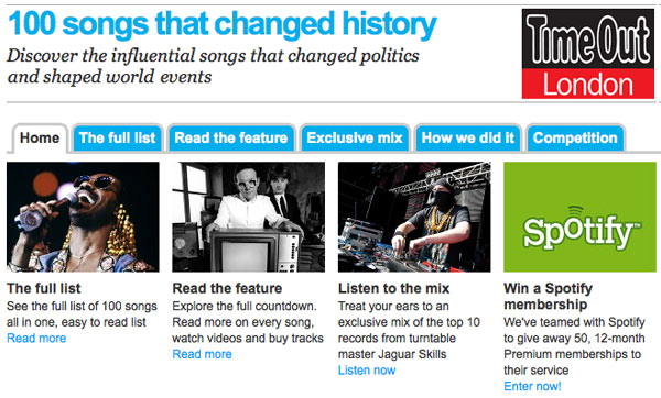 Time Out's 100 Songs That Changed History