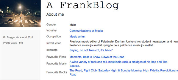 Nico Franks: A Frank Blog