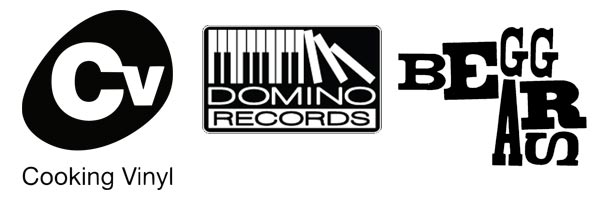 Cooking Vinyl, Domino & Beggars labels