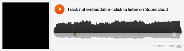 "Track not ""widget enabled""  - click to hear on Soundcloud"