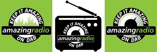 Click for Amazing Radio DAB campaign logos