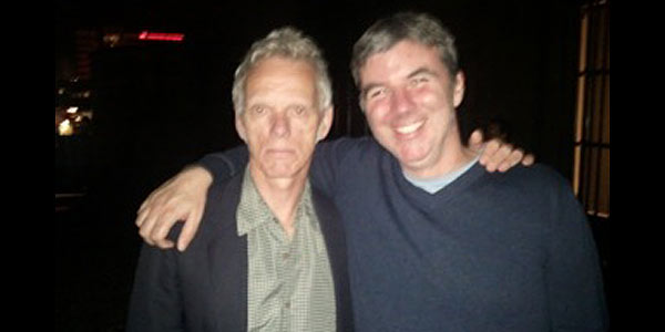 Lucky Fonz III's tour manager with Brian