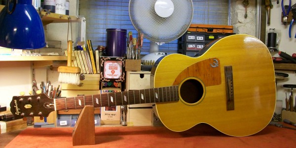 Epiphone Texanrepair by luthier Graham Parker