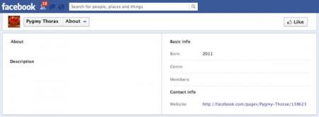 Empty Facebook profile