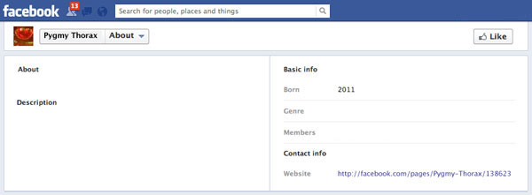Empty Facebook profile