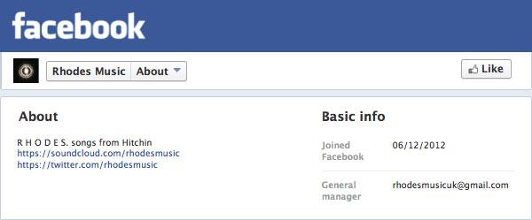 Rhodes Facebook Profile