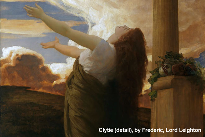 Clytie (detail), by Frederic, Lord Leighton