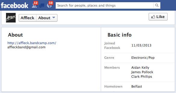 Affleck's Facebook Page