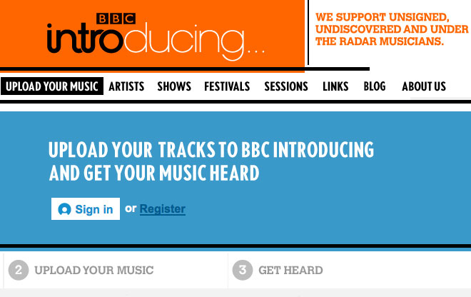BBC Introducing Uploader