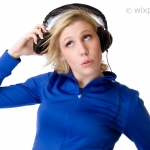 Woman with headphones - free stock photo © by wixphoto.com