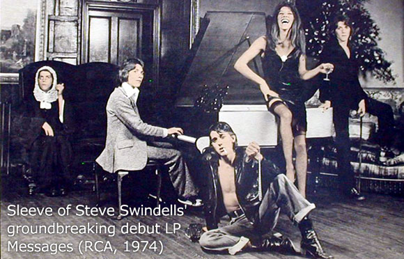 Sleeve of Steve Swindells' groundbreaking debut album Messages (RCA 1974)