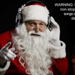 Santa Claus With Headphones