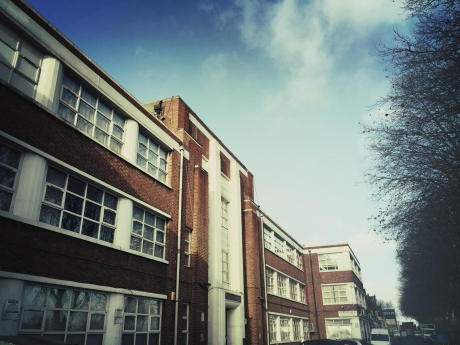 Bally Studios on a sunny day - the building on the Millmead Industrial Estate was an old car factory
