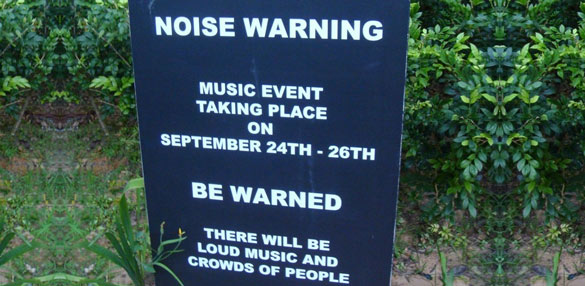 Festival Noise Warning