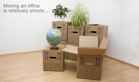 Moving an office is relatively simple