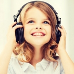 Listening Post: young girl with headphones