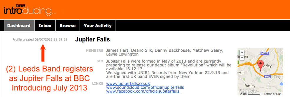 Leeds Band registers in 2013