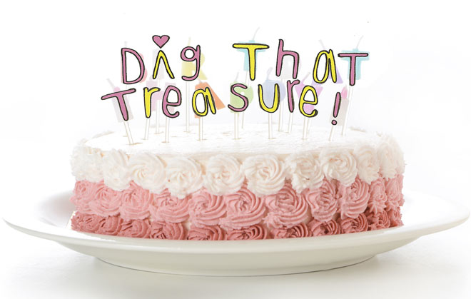 Dig That Treasure Birthday Cake