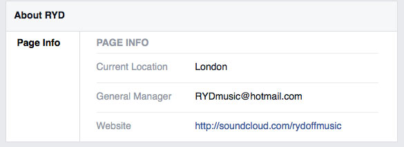 RYD on Facebook