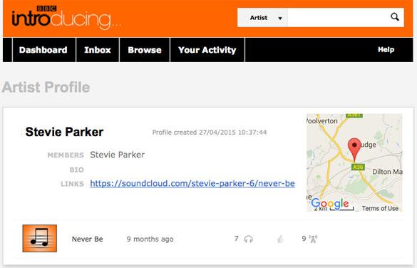 Stevie Parker's BBC Introducing profile