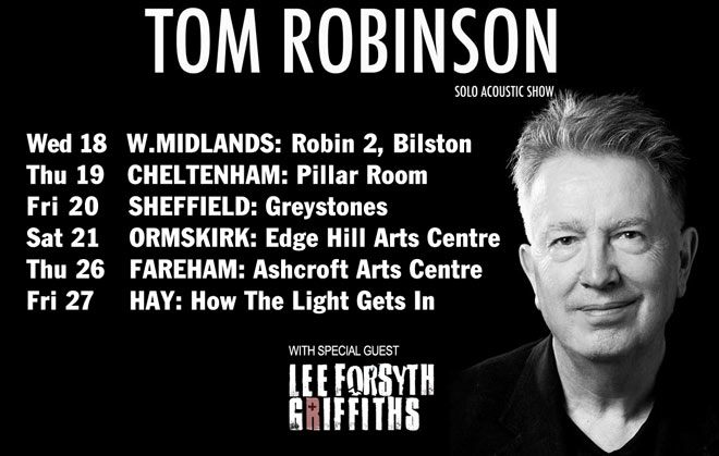 Tom Robinson tour dates