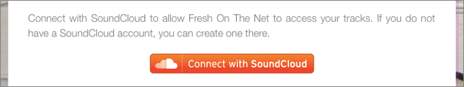 Connect with SoundCloud button
