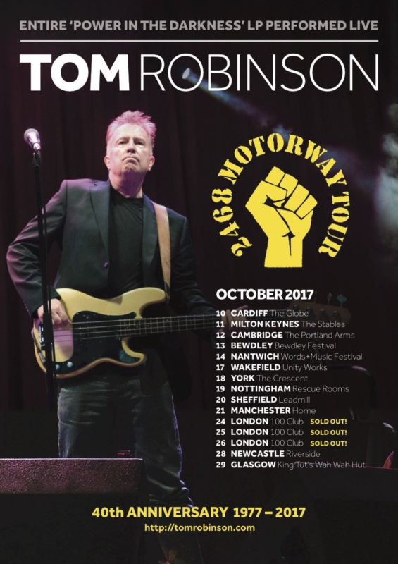 Tom Robinson Tour
