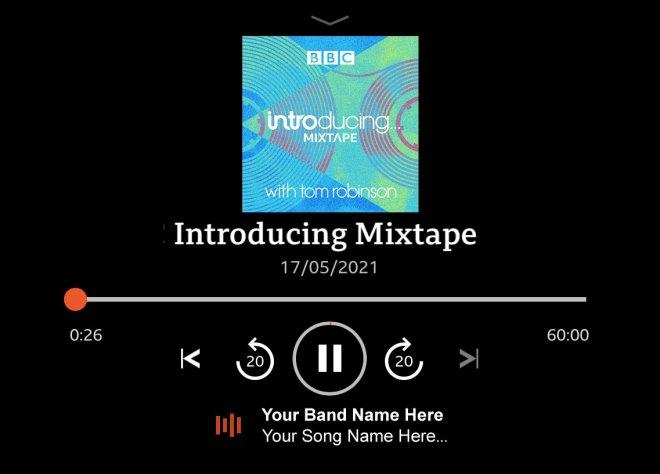 BBC Sounds display