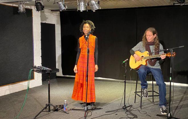 Delila Black on stage